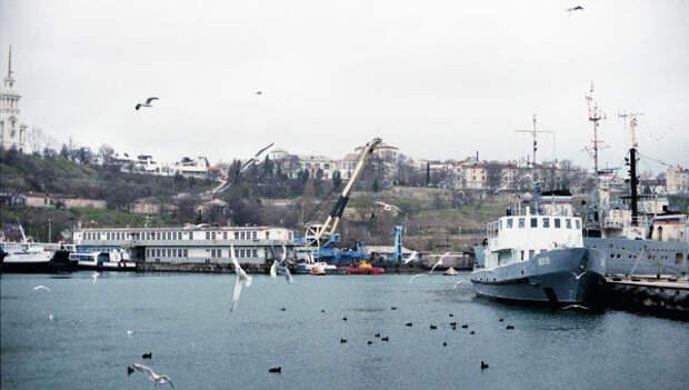 Вид на порт Севастополя. Архивное фото
