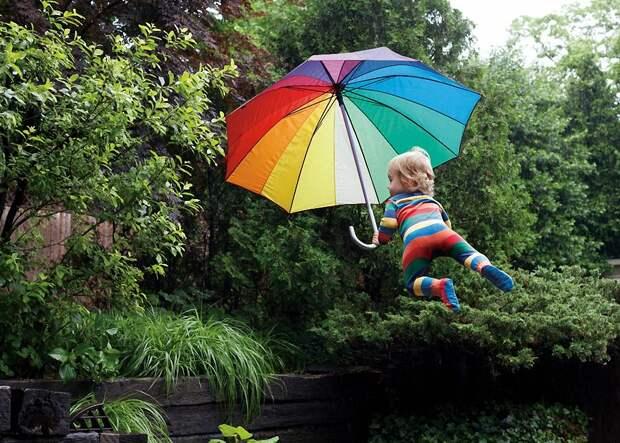 Если бы дети летали: позитивная фотосерия скучающей в декрете Рэйчел Гулин