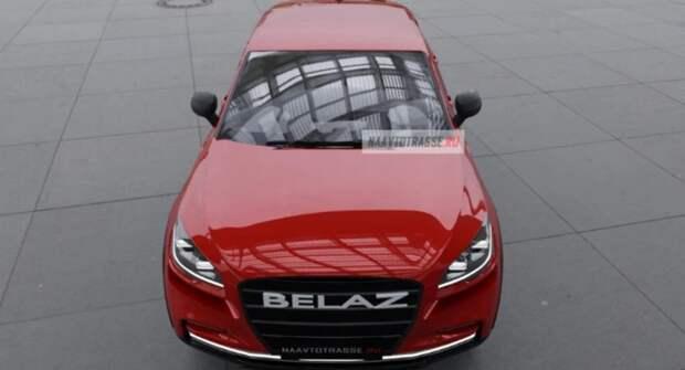 В Сети опубликовали рендерные изображения прототипа кросс-купе БелАЗ-75710 2021–2022