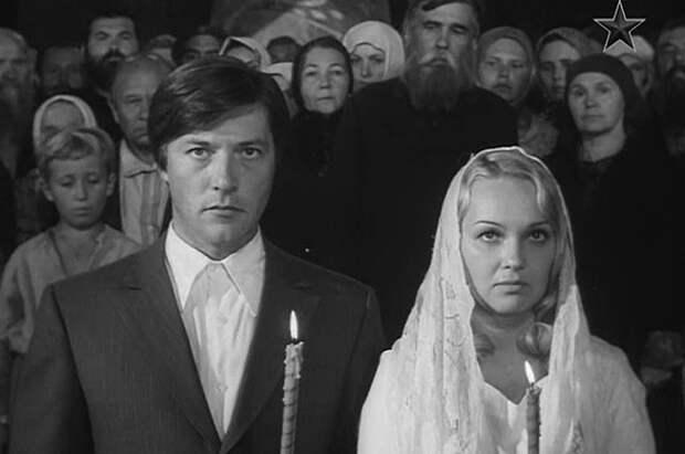 Евгений Жариков и Наталья Гвоздикова в фильме «Рождённая революцией» (1974-1977)