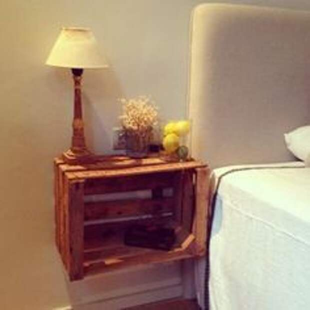 Красивая мебель из деревянных ящиков (трафик)