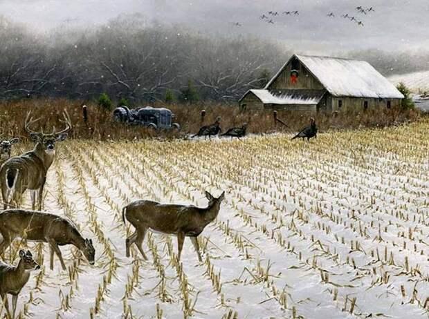 Современный американский художник Авраам Хантер
