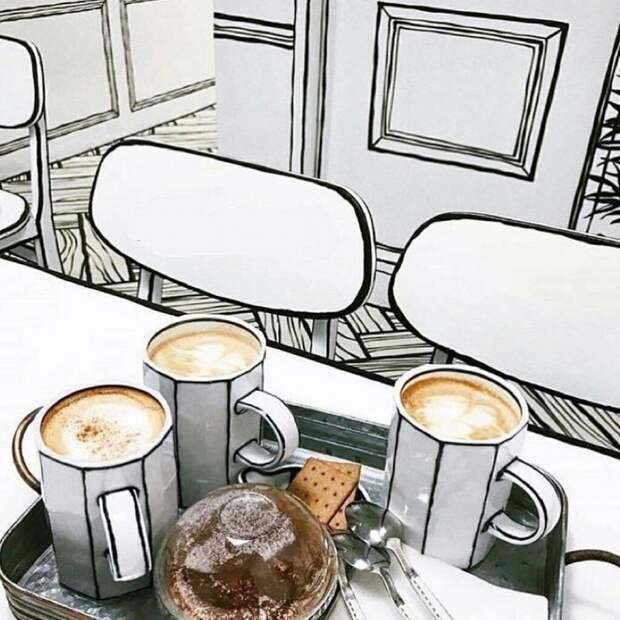 Рисованное кафе (трафик)