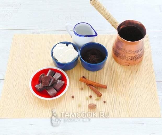 Ингредиенты для кофе по-венски