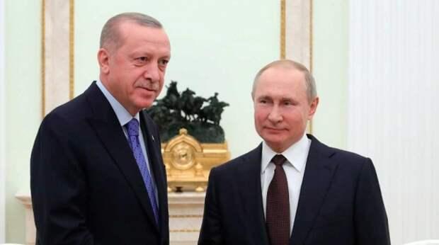 """""""Роскошно"""": Эрдоган оценил ответ Путина на хамство Байдена"""