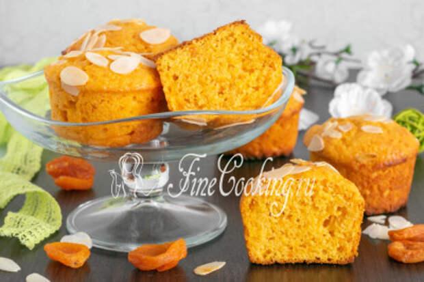 Нежные, воздушные, ароматные и очень вкусные кексы с курагой готовы