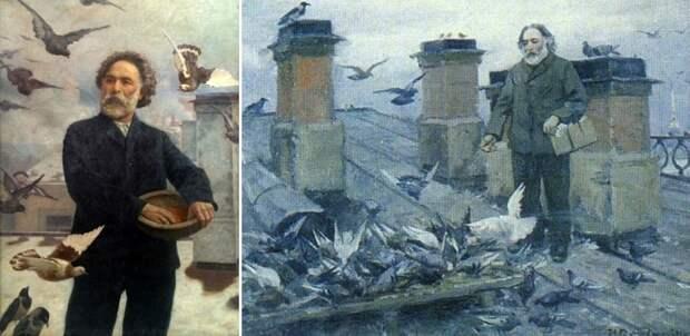 Слева - портрет Архипа Куинджи, написанный его учеником Г.О. Калмыковым. Справа - портрет Куинджи, выполненный И.А. Владимировым.