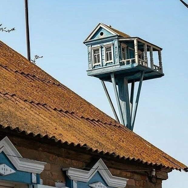 И даже скворечник должен быть особенным балконы, крутость. архитектура, строительство, фасад