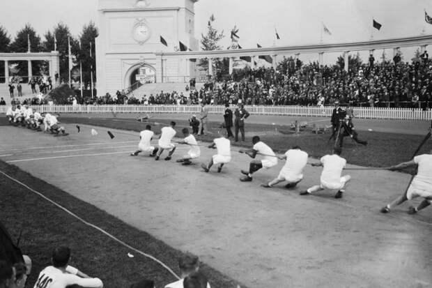 Перетягивание каната на Олимпийских играх. Бельгия, 1920 год. история, факты, фото