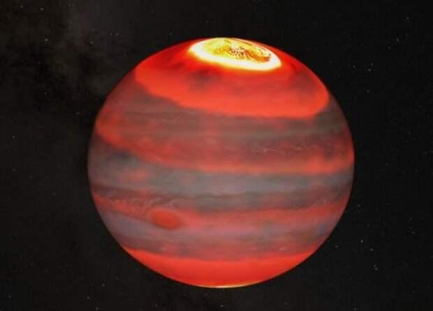 Астрономы определили источник аномального нагрева верхних слоев атмосферы Юпитера