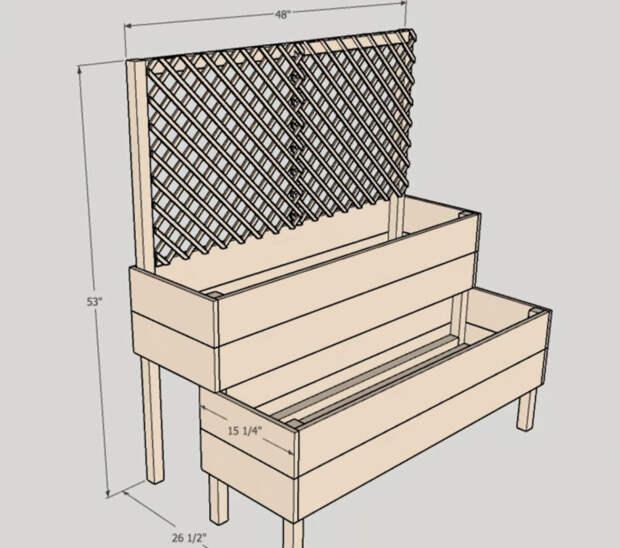 Максимум пользы, минимум места: двухъярусная клумба для небольшого участка
