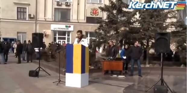 2014 год. Бандеровцы попробовали провести митинг в Керчи. И вот, что из этого вышло (видео)
