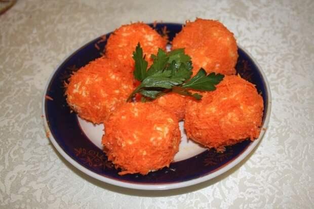 Яркая и оригинальная закуска «Мандаринка»