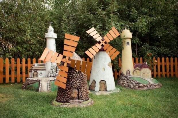 Декоративная мельница - символ достатка своими руками, обзор простых конструкций и материалов для изготовления своими руками