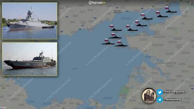 «Десантная операция в Мариуполе»: показана группировка Каспийской флотилии в Азовском море