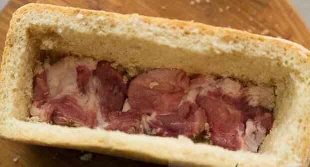 Свинина в хлебе вкусно, еда, красота, многослойное, необычно, пироги. мясо