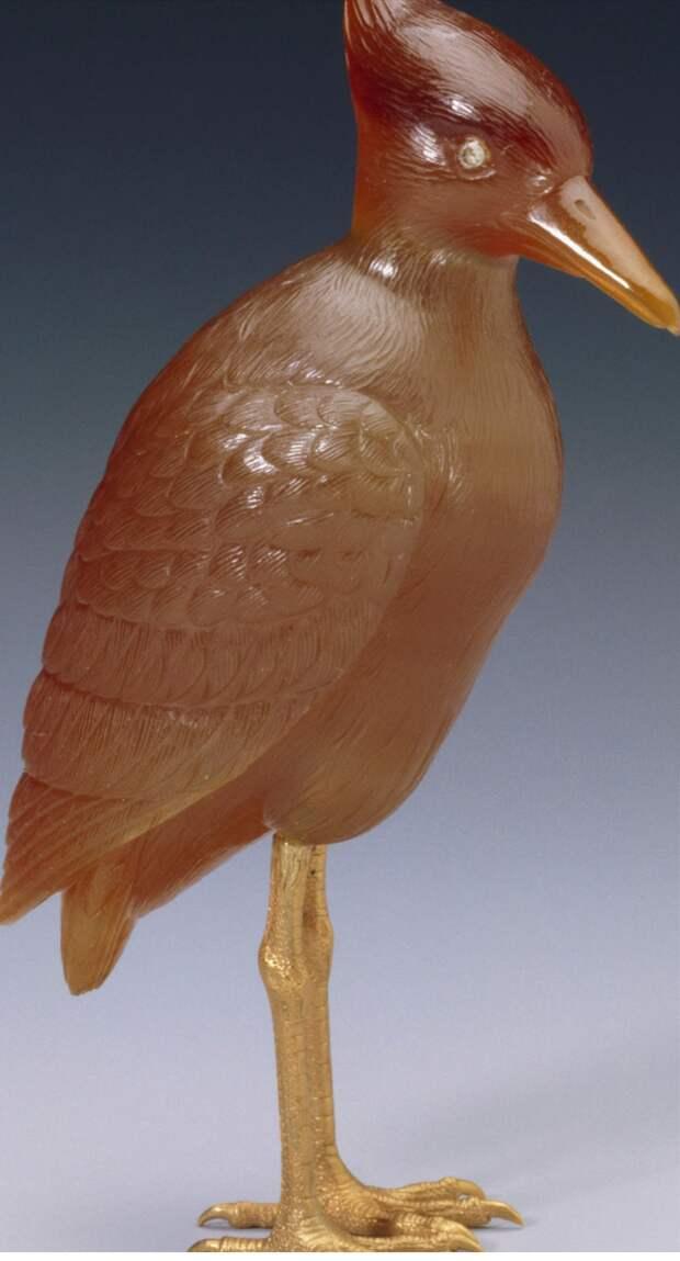 Камнерезные фигурки птиц фирмы Фаберже из королевской коллекции, фото № 12