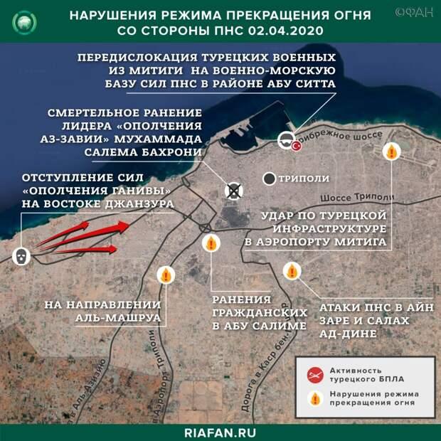 ПНС Ливии за ночь потеряли четверых полевых командиров и 21 единицу техники