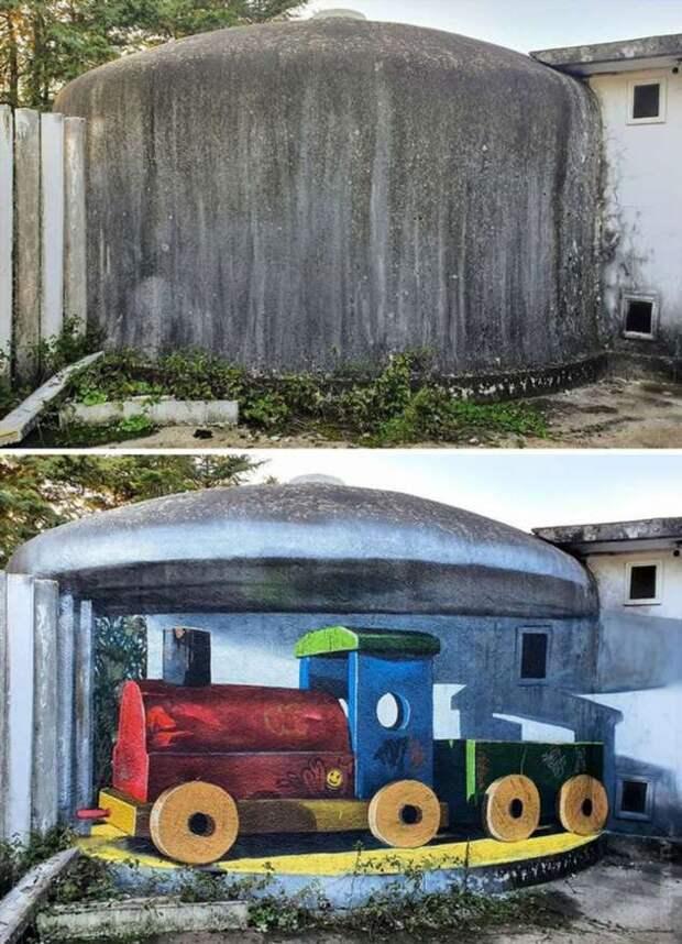 Португальский художник продолжает удивлять своими 3-D граффити