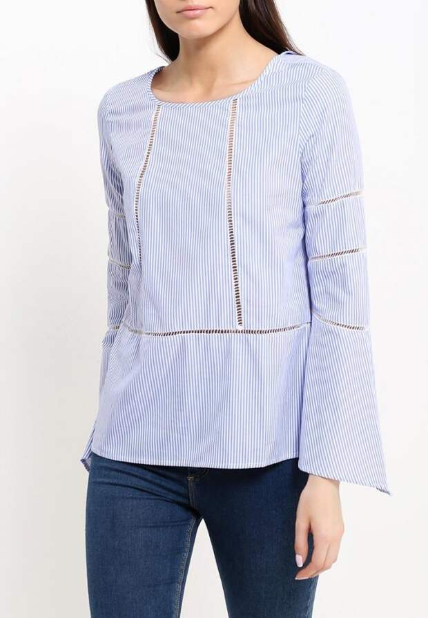 Современные блузки с кружевными прошвами