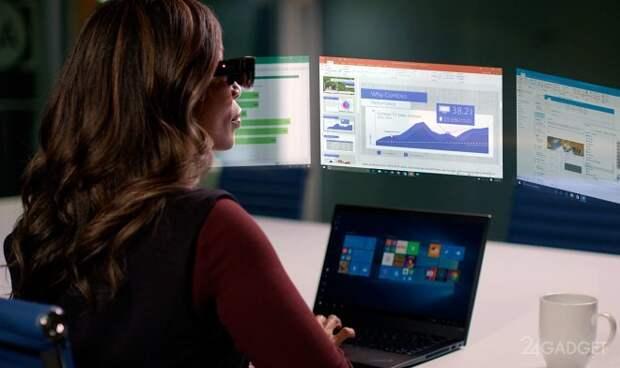 Очки дополненной реальности Lenovo обеспечат рабочее место 5 виртуальными экранами