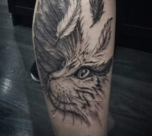 Татуировки с кошками. А вы такие видели?