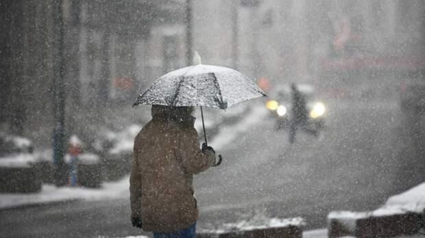 Дождь и мокрый снег ожидают москвичей 24 октября