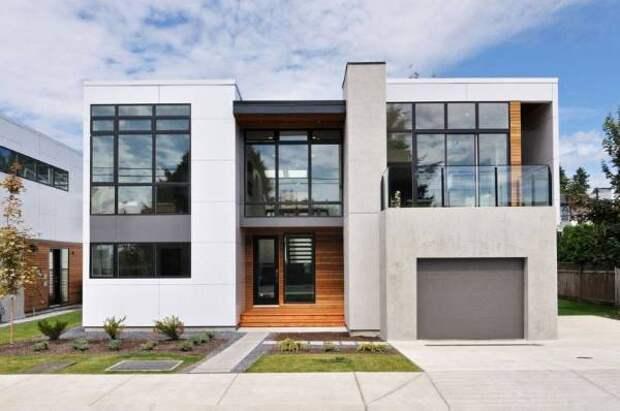 Красивые фасады частных домов - фото дома из бетона