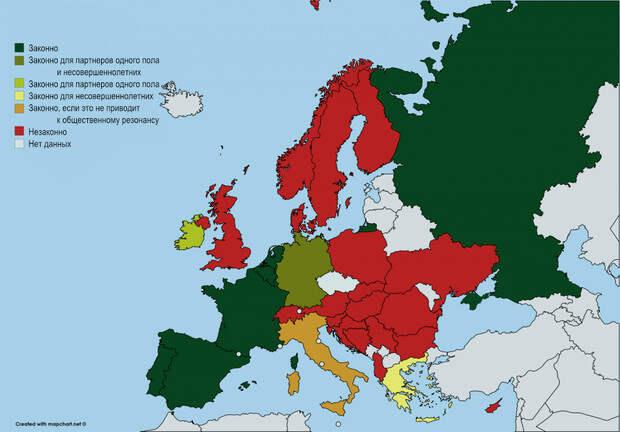 Карта: Законный статус интимной связи между родными братьями и сестрами