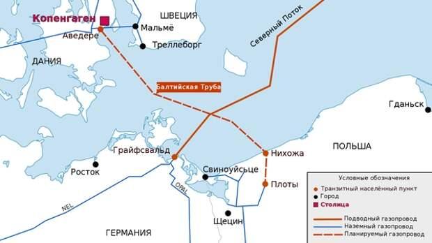 Польша бьется в истерике из-за Дании, которая отозвала решение по Baltic Pipe
