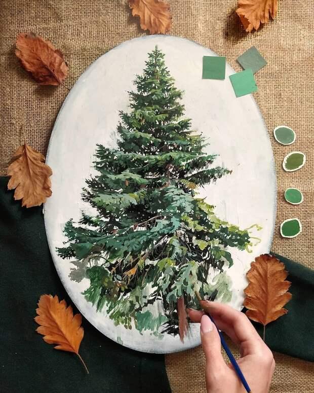 Необыкновенно реалистичные работы: зеленые деревья