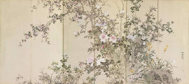 Flowers and Plants of the Four Seasons (634x283, 201Kb)