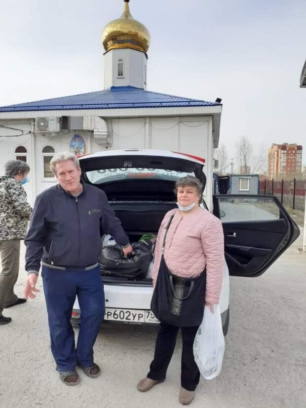 Волонтеры из храма Георгия Победоносца отправили гуманитарную помощь в Новогорск