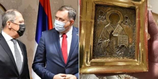 Выяснена история и стоимость скандальной иконы, подаренной Лаврову