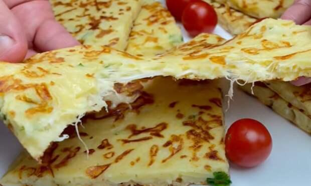 Готовлю каждый день! Легкий и быстрый: вкусный сырный пирог на завтрак