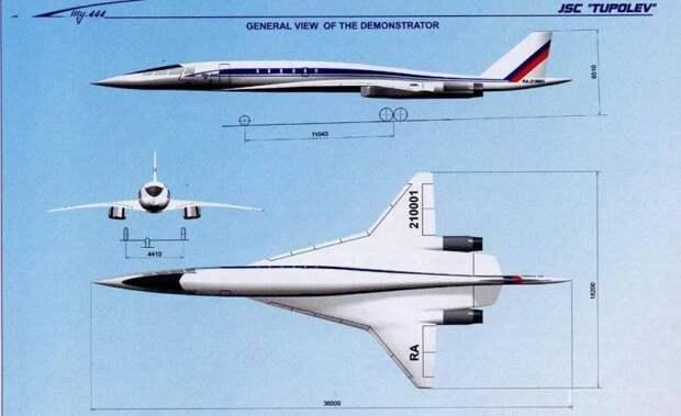 Новый российский сверхзвуковой лайнер будет медленнее Ту-144