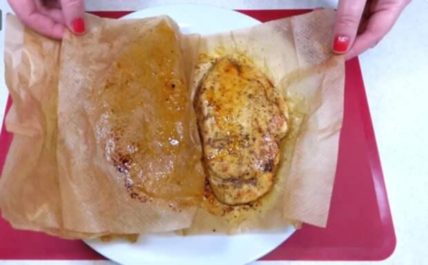 Жарю курицу в бумаге на сухой сковороде: весь сок внутри и чистая плита без капель масла