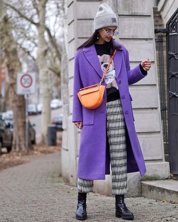 Яркий сиреневый: добавляем роскоши и элегантности в образ