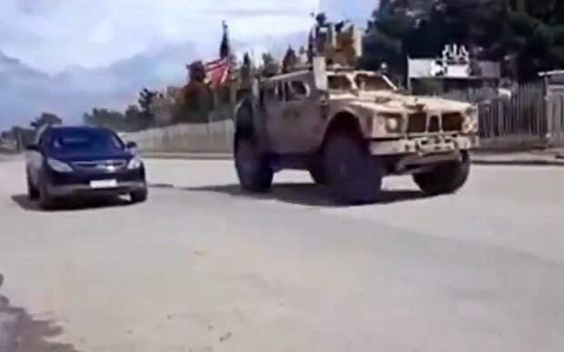 Опубликовано видео погони американцев за российскими военными в Сирии