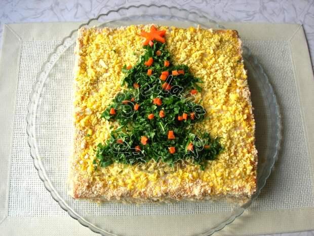 Закусочный торт «Застольный». Идеальная закуска на новогодний стол