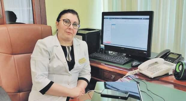 Главный врач городской поликлиники №218 Натэлла Парсаданян/ пресс-служба Депздрава