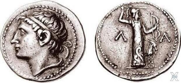 Серебряная тетрадрахма с профилем Кле...