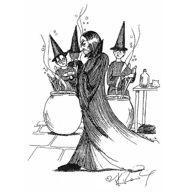 Иллюстрации Джоан Роулинг к книгам о Гарри Поттере