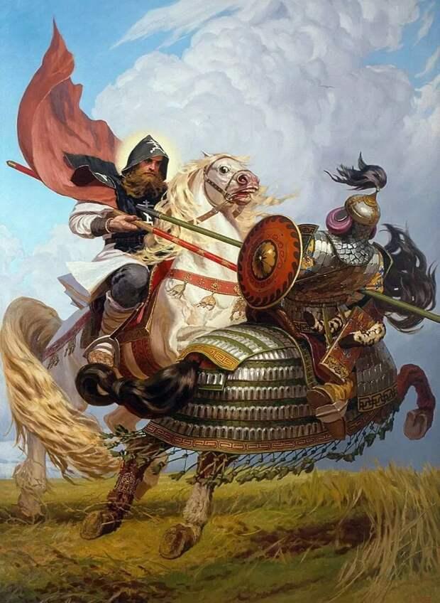 Русские ратники вложили ливонским рыцарям так, что у тех людей даже гонца послать, не осталось