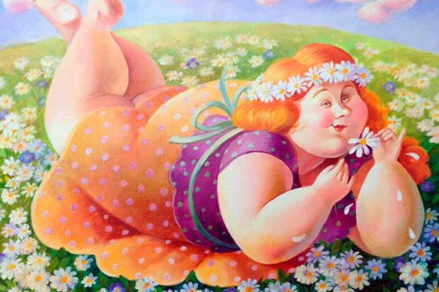 Ох, зря Петька жену толстой коровой называл!
