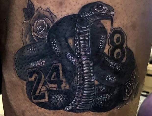 Леброн показал татуировку впамять опогибшем Коби Брайанте: фото