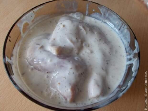 Куриные окорочка в кефирной заливке