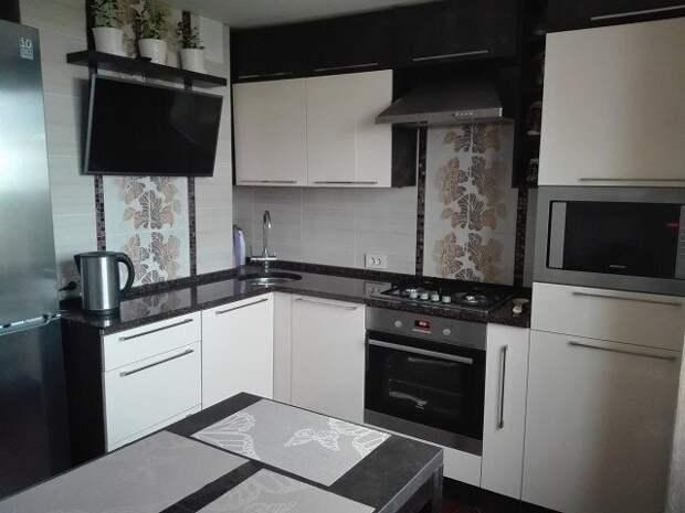 Шикарно спланированная кухня 9 м2.