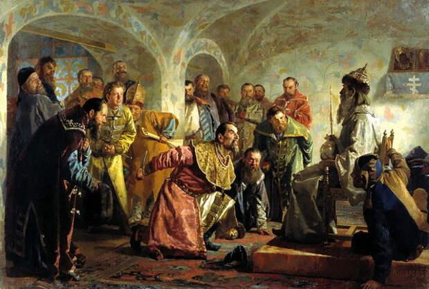 Н. В. Неврев «Опричники. Убийство боярина И. П. Фёдорова»