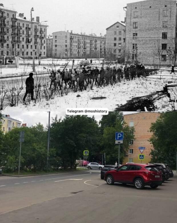 Фото дня: снимки 3-го Балтийского переулка с разницей в 50 лет